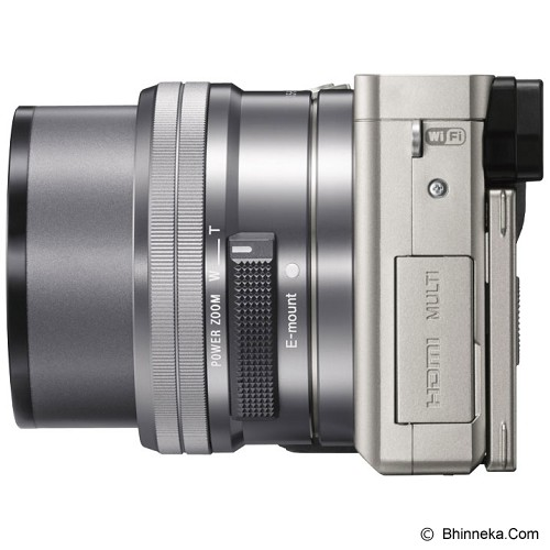 SONY Mirrorless Digital Camera [ILCE-6000L/S] - Silver - Camera Mirrorless